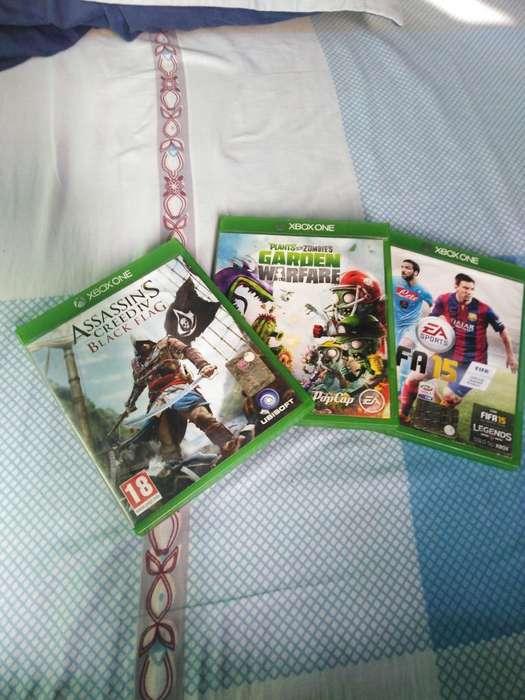 3 Juegos de Xbox One en Buen Estado
