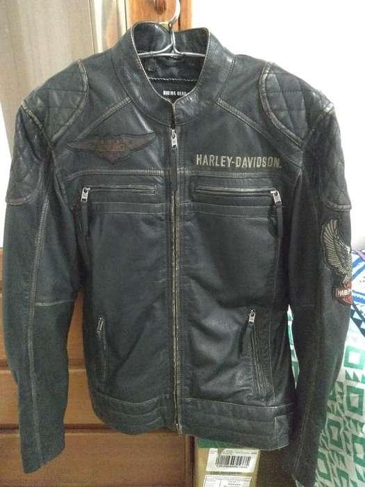 Casaca de Cuero Harley Davidson S