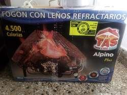 OFERTA Fogón Con Leños Refractarios 4500 Calorias Alpino Plus