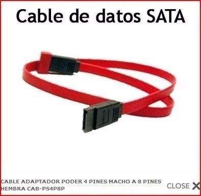 Cable Adaptador Poder 4 Pines Macho A 8 Pines Hembra
