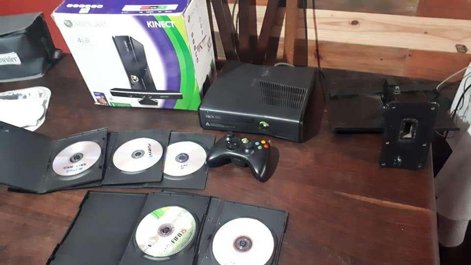 Xbox 360 Flasheada 5 juegos mando soporte caja Fuent