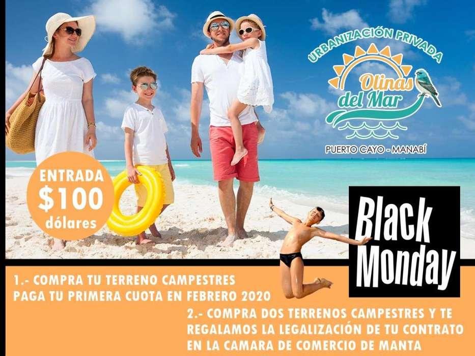 Black Monday, Terrenos Urbanizados En La Playa, 100 Usd De Entrada Firmas Contrato, Puerto Cayo Manabi SD1