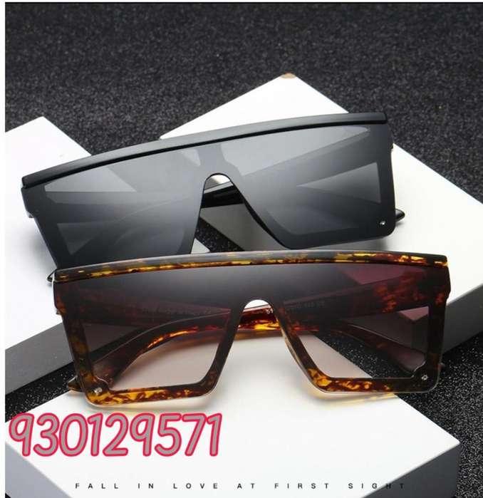 Lentes o gafas de sol cuadradas grandes unisex elegantes Uniluna Shield UV400