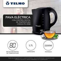 Pava Electrica Yelmo 1.70 Lts 2200w Selector Temp