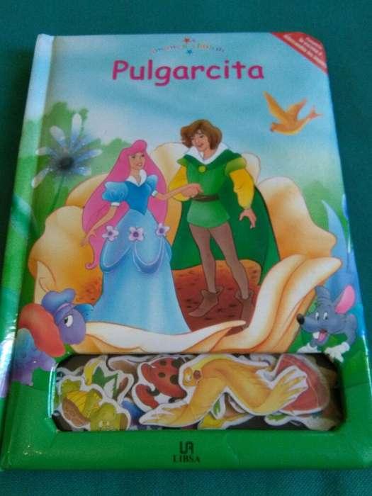 Pulgarcita . Libro cuento para Niños con Imanes . interactivo. muy bueno Libsa 2''7