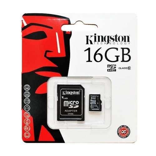 MEMORIA Micro Sd Kingston 16 gb Clase 10 Original rápida