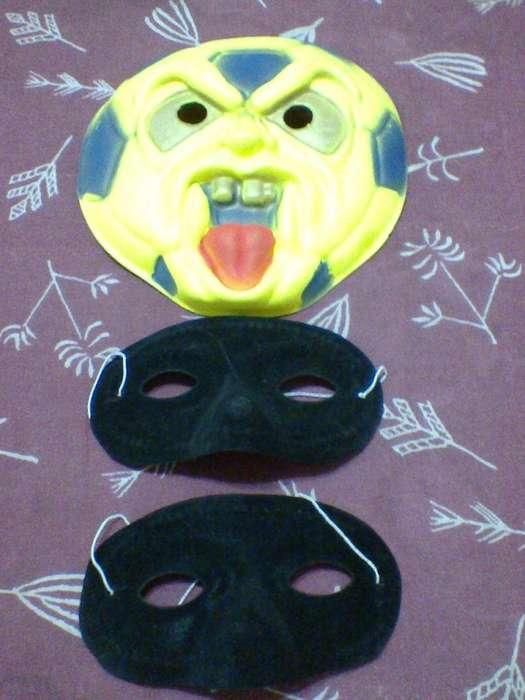Lote De 2 Antifaces Cotillón màs 1 Màscara Fiestas!!!
