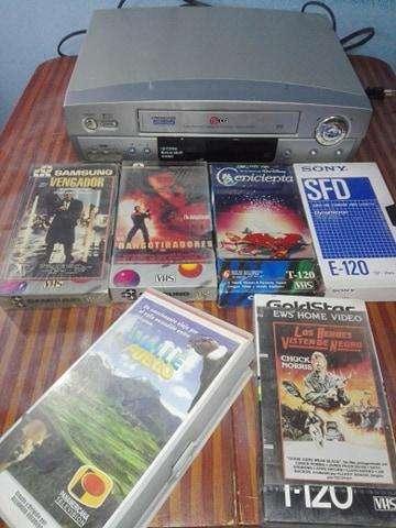 X VIAJE VHS LG 27 CASETES A 70 SOLES OPERATIVO