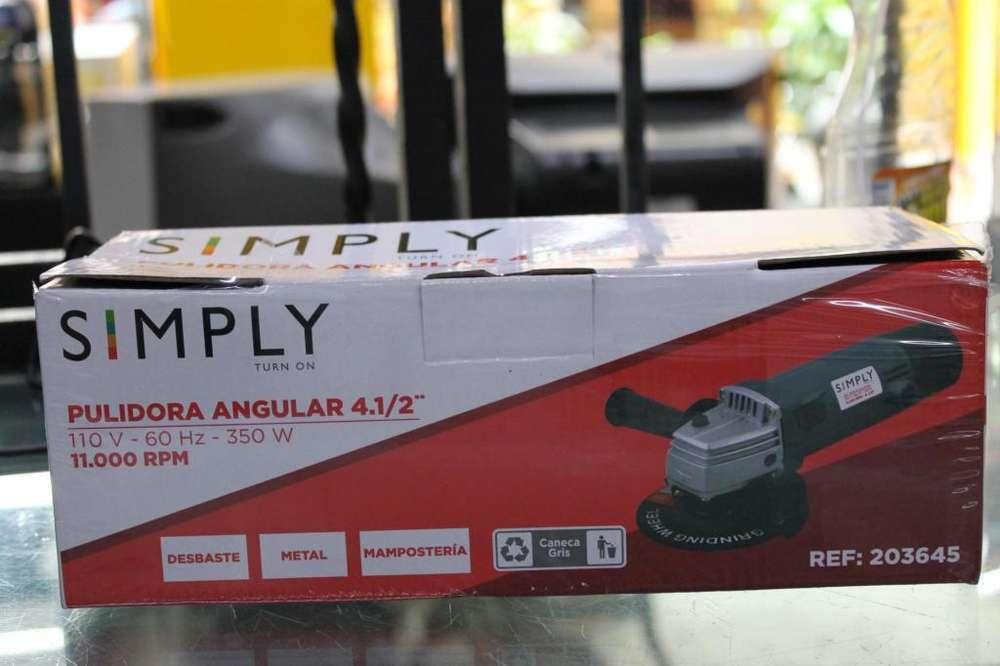 Pulidora SIMPLY 350W nueva CON DISCO