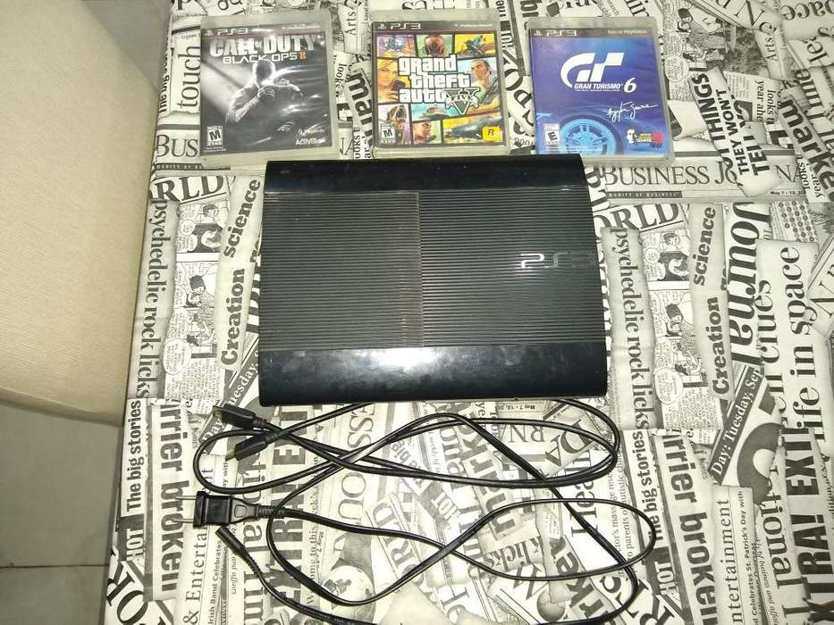 Playstation 3 Slim 250gb Y con 3 Juegos