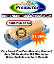 DISPENSER DE ROLLO FILM 38 CM 6 MESES GARANTIA