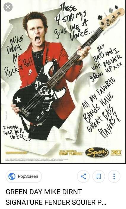 Fender Squier P.bass Telecaster Greenday