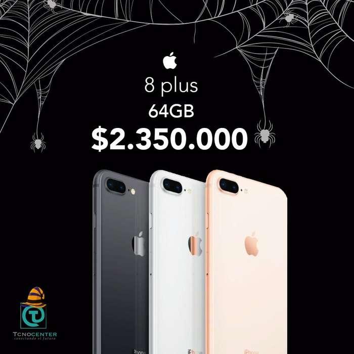 iPhone 8 Plus 64GB Doble camara, GARANTÍA 1 AÑO DIRECTA Apple, TIENDA FÍSICA, nuevos, sellados, libres.