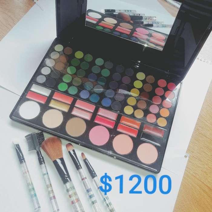 Maquillaje Paletas con Brochas