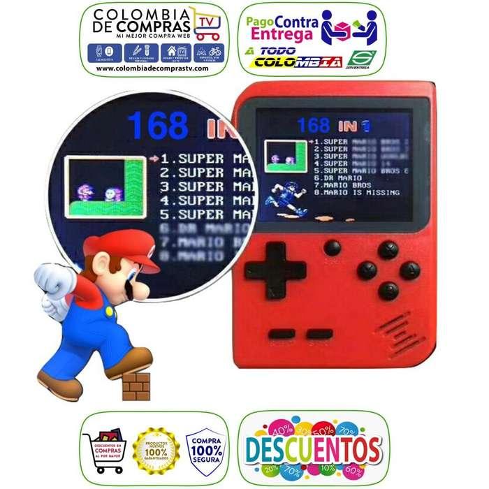 Game Boy Mini Consola Retro Portatil 168 Juegos Play AV, Nuevas, Garantizadas