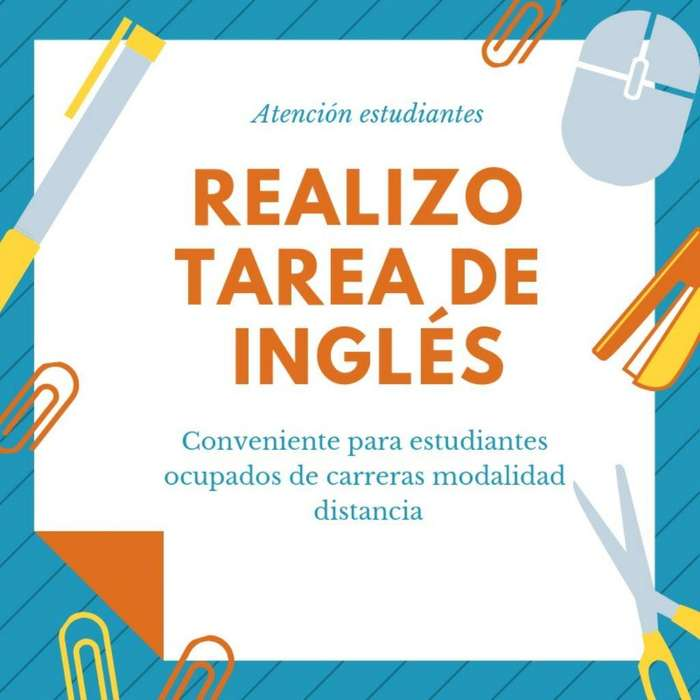 Realizo Tareas Universitarias de Inglés