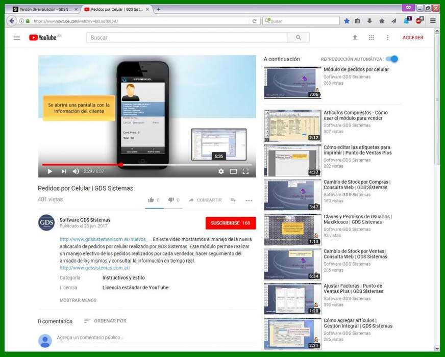 Software GDS Sistemas ::··:: nuevo Módulo PEDIDOS POR CELULAR