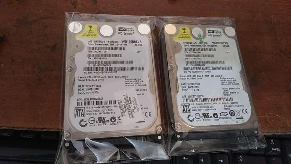 discos duros para portatil o consola 120gb