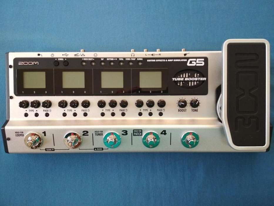 Zoom G5 Pedalera Multiefecto Amp Simulation looper Usb Guitarra