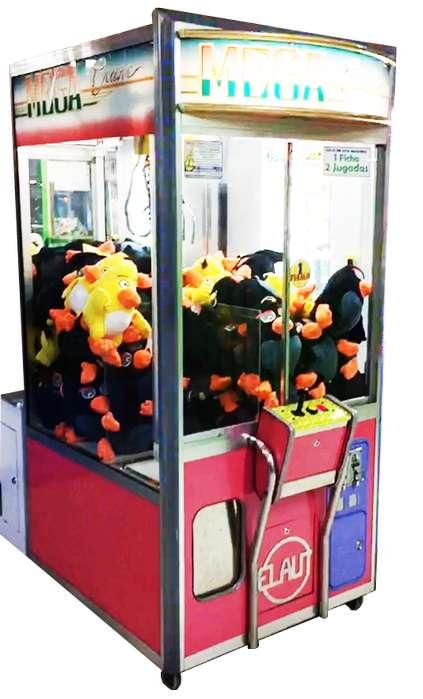 Máquina De Muñecos Mega Elaut Rosada, Máquina De Peluches