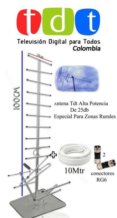 Antenas TDT Rural y urbana de 5 dbi hasta 25 dbi