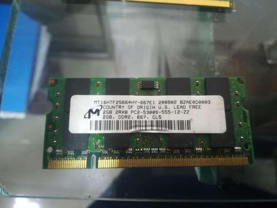 MEMORIAS RAM DE 1 GB Y 2GB