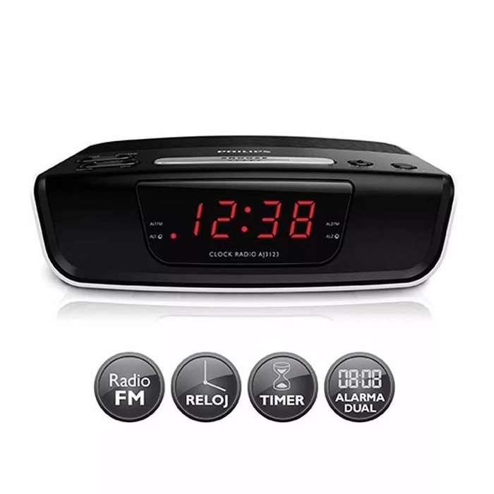 <strong>radio</strong> Reloj Despertador Philips Digital Fm Alarma FELIZ DÍA MAMA!!