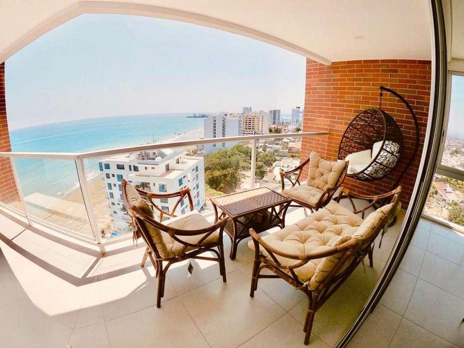 Se alquila departamento amoblado frente al mar, Ibiza - Manta