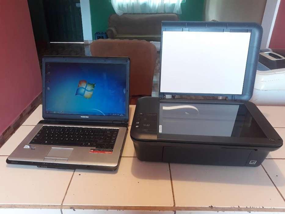 Laptop Toshiba Mas Impresora Hp Barato