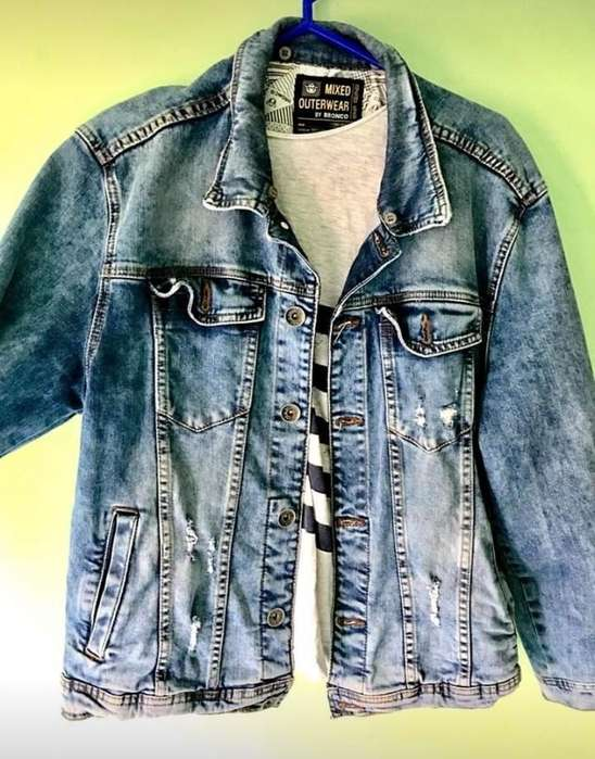 Vendo Casaca Jeans Bronco Talla M