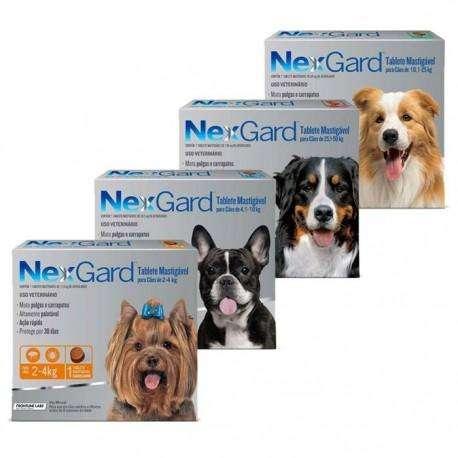 Elimine las garrapatas Nexgard para <strong>perro</strong>s, única dosis garatizado
