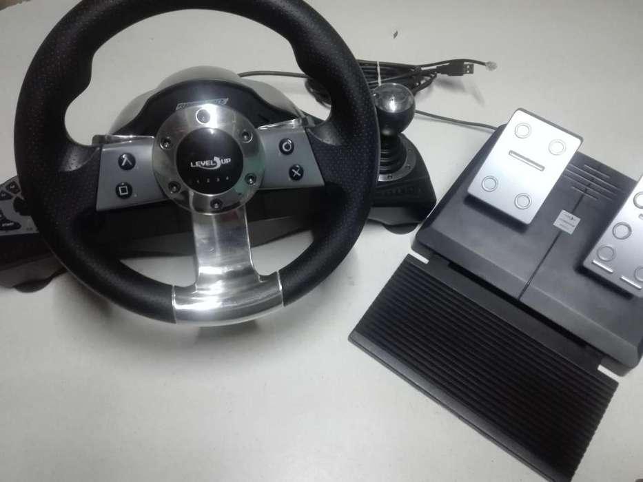 Volante para PS3 con cambios y pedales
