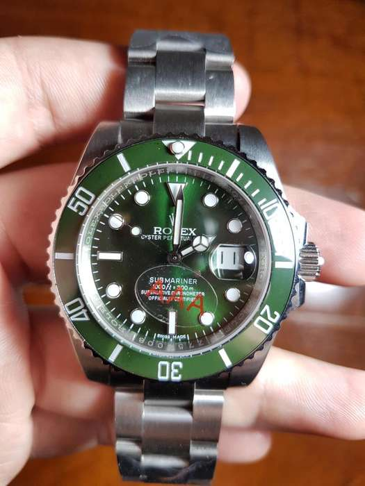 Reloj <strong>rolex</strong> Submariner Date 40 mm Verde Hulk Automatico Sumergible