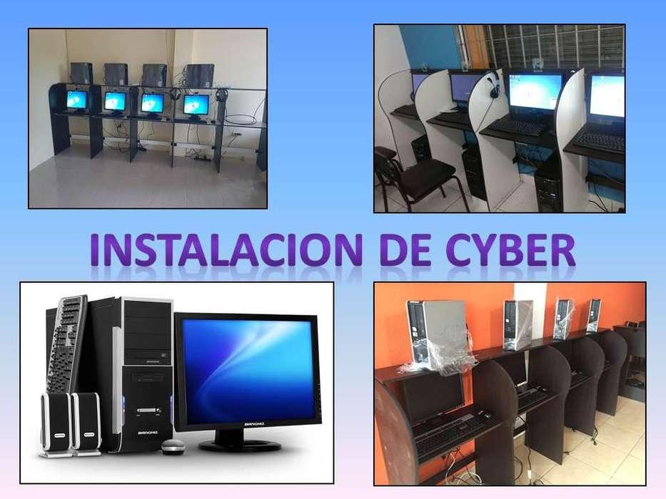 Instalacion Completa De Cyber Cafe, Combos De Computadoras