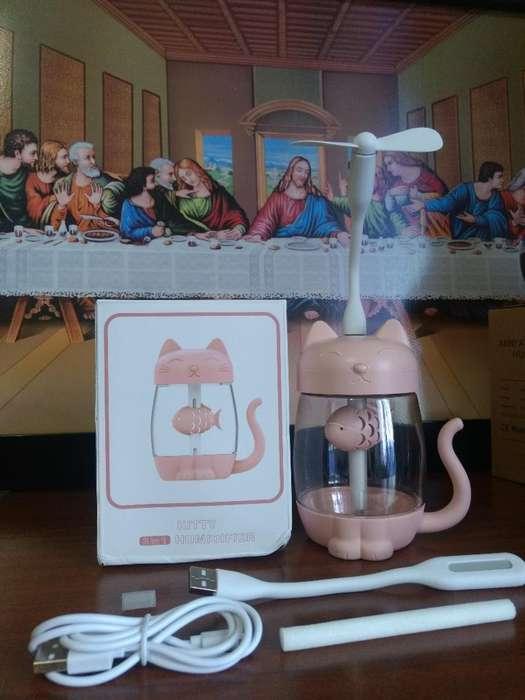 Humidificador de Gato Color Rosa