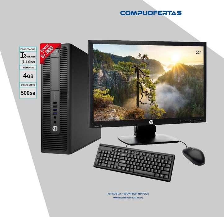 Computadora HP 600 G1 Core i3 Con Led 22