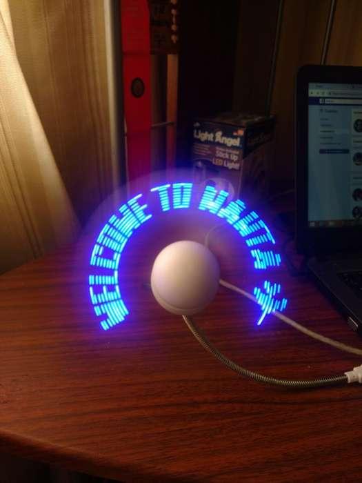 Ventiladores con Mensajes en Luz Led