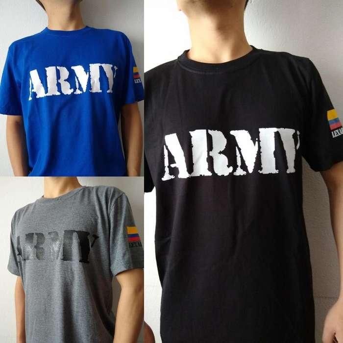 Camiseta Army Ejército de Colombia