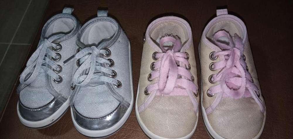 Dos Pares de Zapatos Talla 21 Paulin