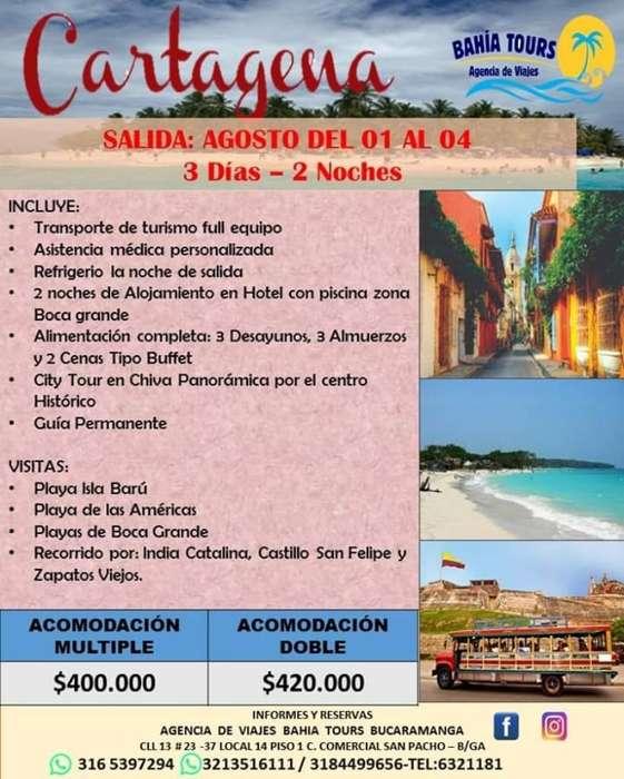 Tour Cartagena 01 de Agosto