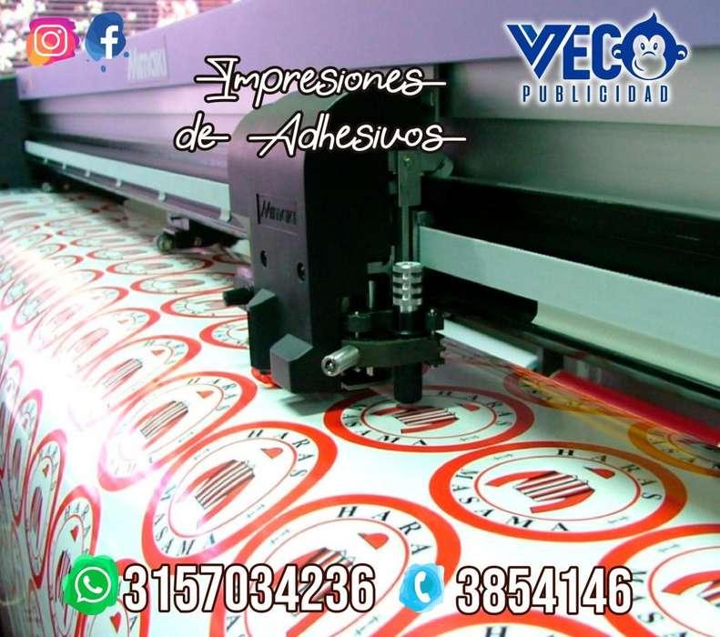 Impresiones adhesivos avisos pendones banner lonas rompetraficos