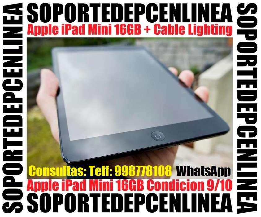iPad Mini WiFi 16GB Color Gris Espacial Poco Uso con Case Anti Impacto Telf 998778108 Soy SOPORTEDEPCENLINEA
