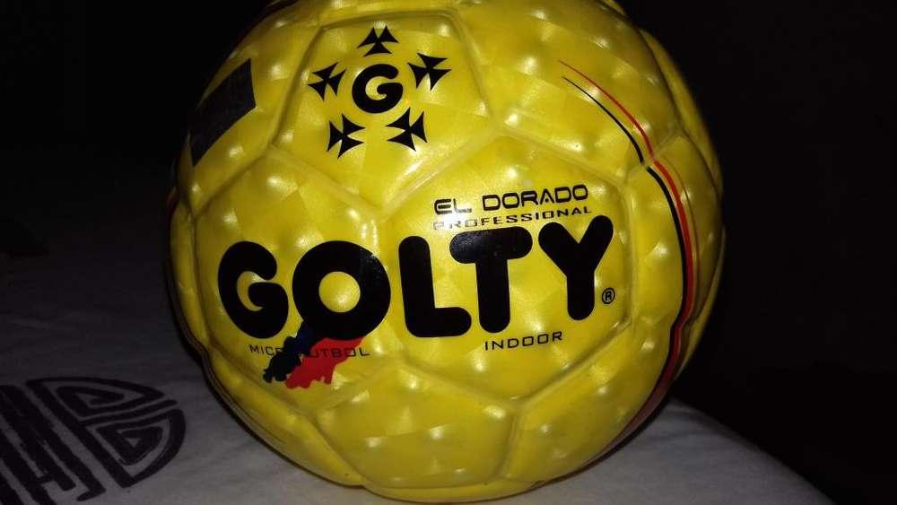 Balon Microfutbol Profesional Dorado No.7 Nuevo