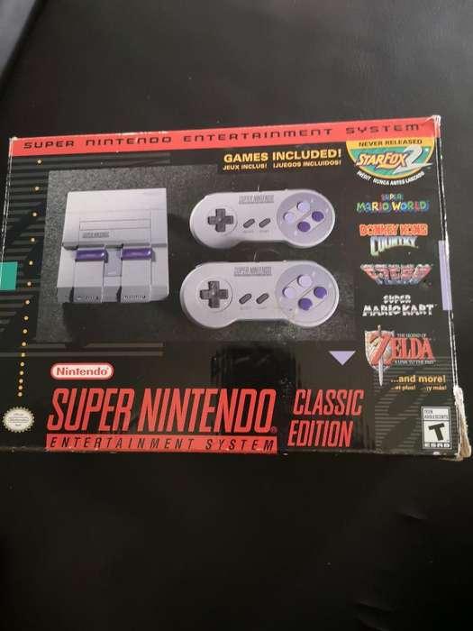 Super Nintendo Clasico Casi Nuevo