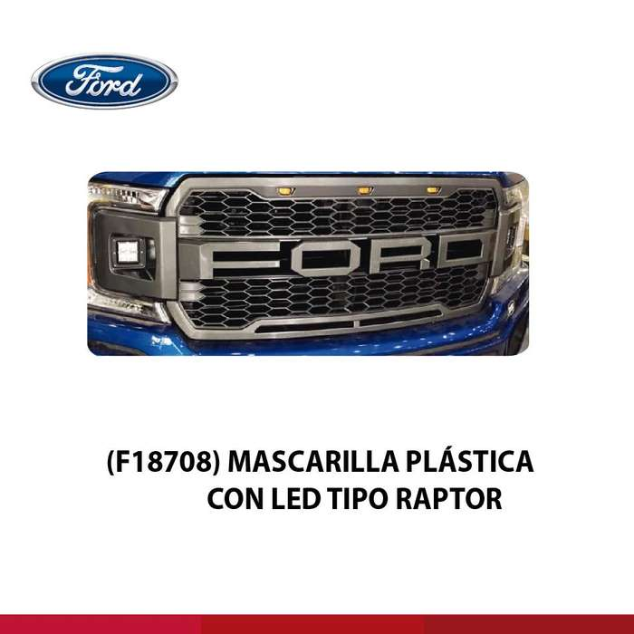 MASCARILLA FORD PLASTICA CON LED TIPO RAPTOR