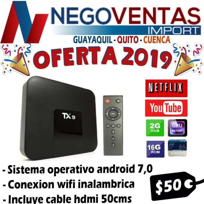 TV BOX TX9 CON 2 RAM Y 16 MEMORIA INTERNA DE OFERTA POR EL MES DE JULIO Y SUS FIESTAS