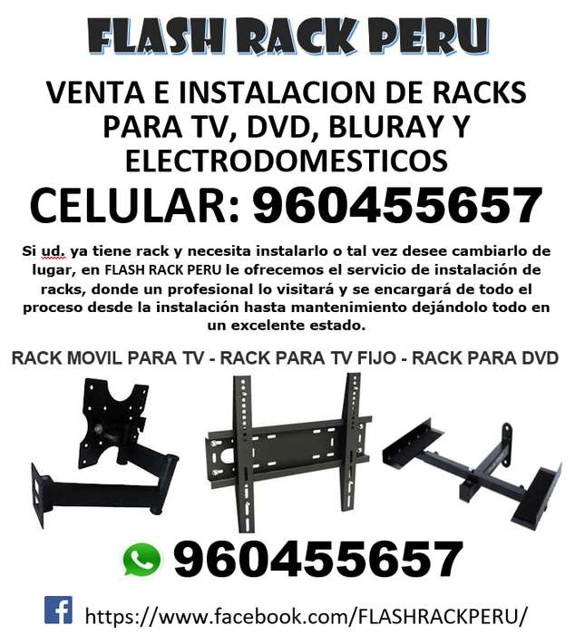 ?? RACKS para TVs LED/LCD/CURVOS/SMART/4K.