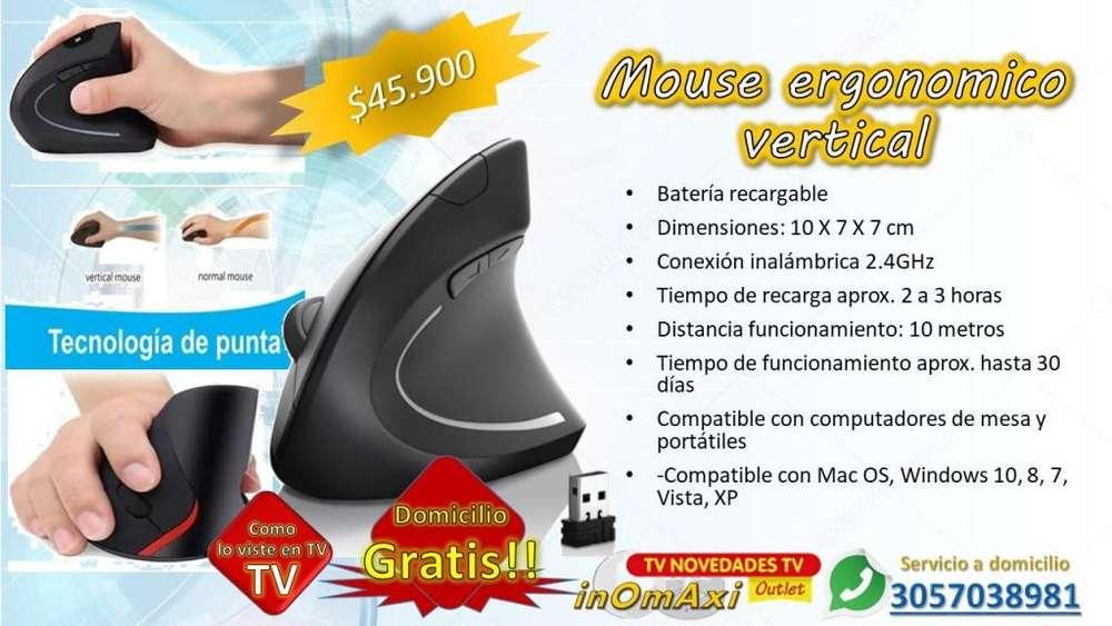 Mouse ergonomico vertical inhalambrico