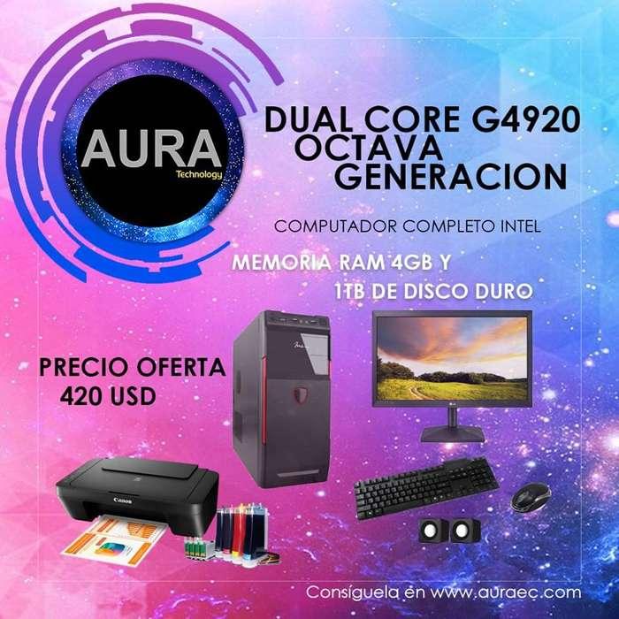 Computador Intel Dual Core 8va Generacion G4920