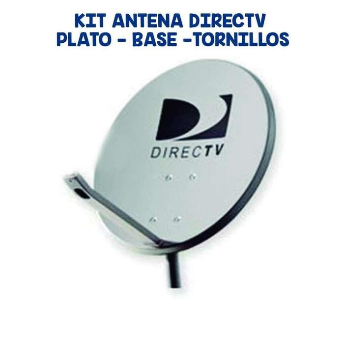 Antena Satelital 47cm Completa Directv Sola No Incluye Deco